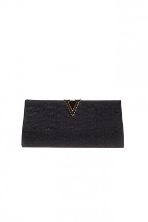 Black Silvery Evening Bag V410