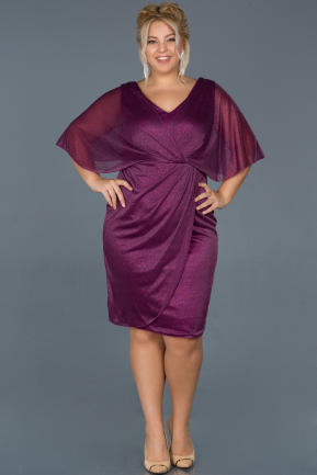 Short Plum Invitation Dress ABK597