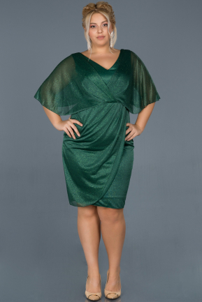 Short Emerald Green Invitation Dress ABK597