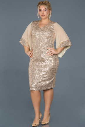Short Mink Plus Size Evening Dress ABK628