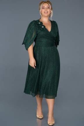 Short Green Oversized Evening Dress ABK630