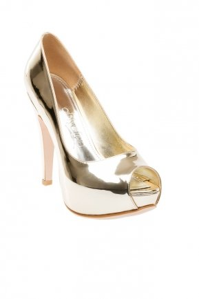 Gold Mirror Evening Shoes SM4398