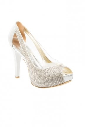 Silver Evening Shoes SM4560