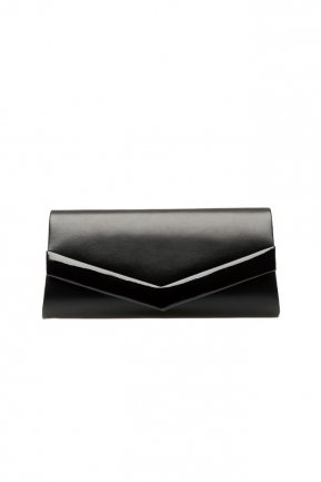 Black Leather Evening Bag V438