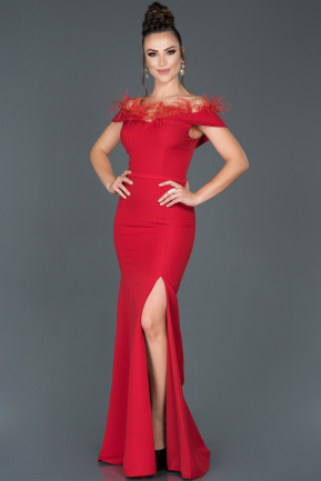 Long Red Mermaid Evening Dress ABU1413