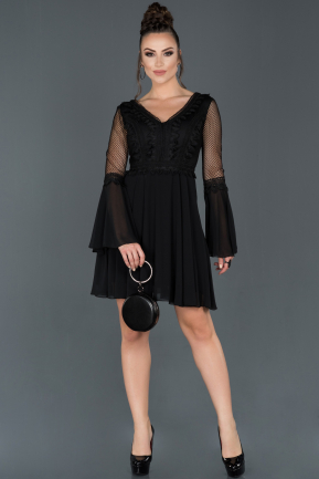 Black Short Invitation Dress ABK643