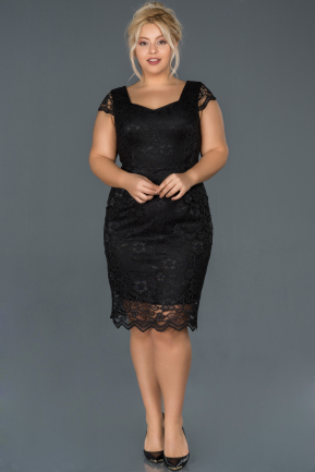 Short Black Oversized Evening Dress ABK010
