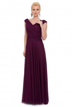 Long Purple Evening Dress C7158