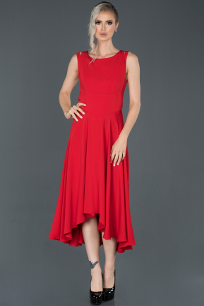 Long Red Invitation Dress ABU998