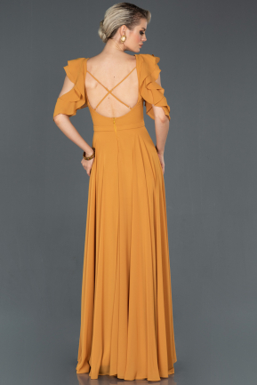 Long Mustard Prom Gown ABU724