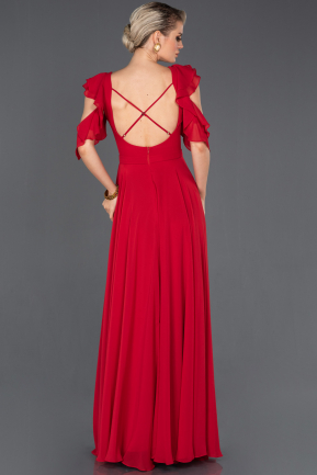 Long Red Prom Gown ABU724