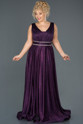 Plum Long Plus Size Evening Dress ABU963