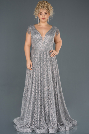 Long Grey Engagement Dress ABU1048