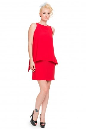Red Coctail Dress ABK016