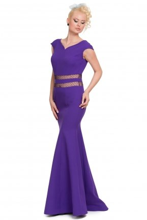 Long Purple Evening Dress E3173