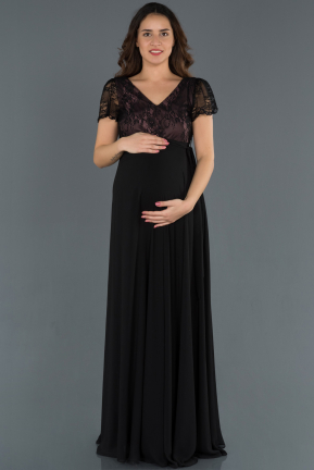 Long Lavender Pregnancy Evening Dress ABU749