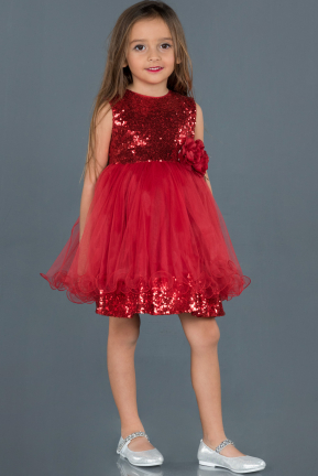 Long Red Girl Dress ABU1138
