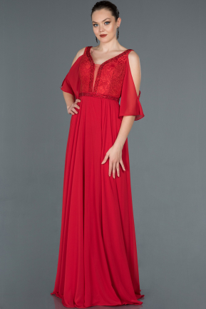 Long Red Engagement Dress ABU1152
