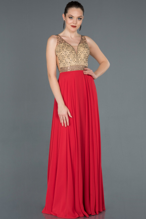 Long Red Engagement Dress ABU1154