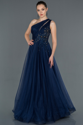 Long Navy Blue Engagement Dress ABU1426