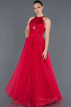 Long Red Prom Gown ABU1160