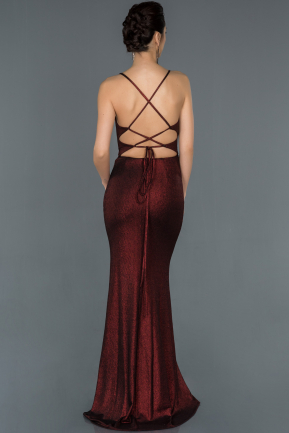 Long Burgundy Prom Gown ABU1171