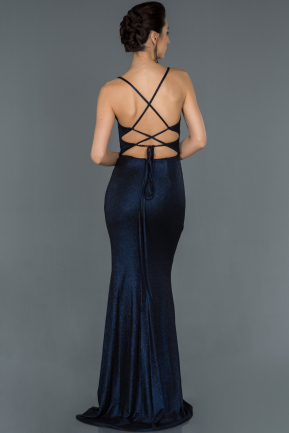 Long Navy Blue Prom Gown ABU1171