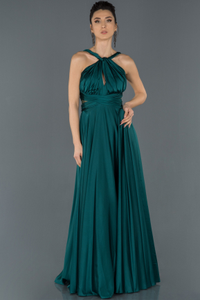 Long Emerald Green Prom Gown ABU1173