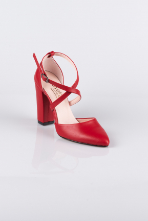 Red Skin Evening Shoes AB1033