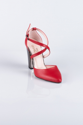 Red Skin Evening Shoes AB1032