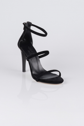 Black Suede Evening Shoes AB1035