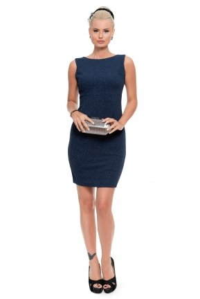 Short Navy Blue Coctail Dress ABK339