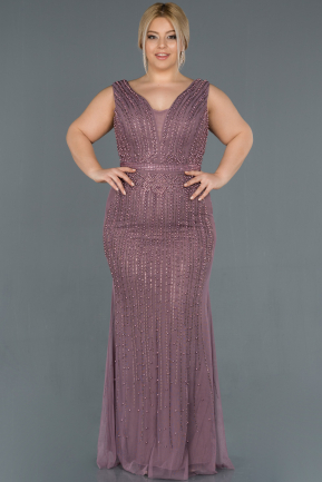 Long Lavender Oversized Mermaid Evening Dress ABU872