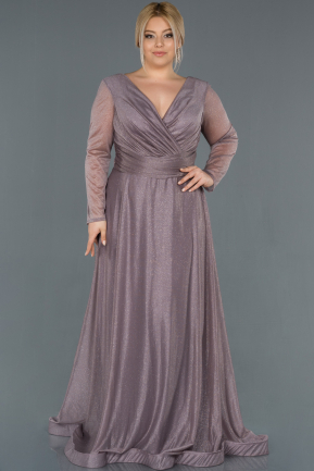 Lavender Long Oversized Evening Dress ABU991