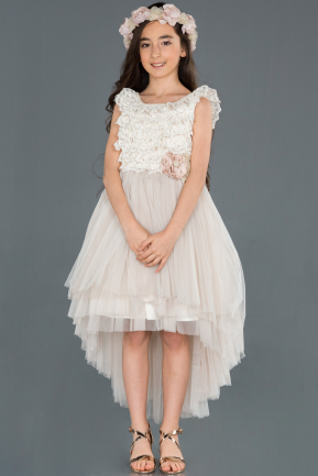 Front Short Back Long Mink Girl Dress ABO056