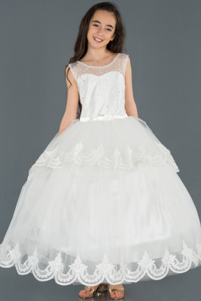 White Kid Wedding Dress OK255