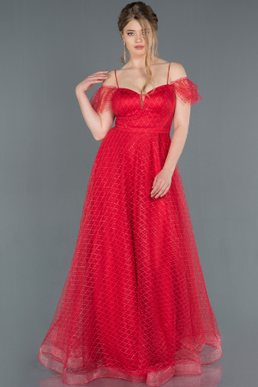 Long Red Engagement Dress ABU1254