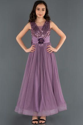 Long Lavender Girl Dress ABU1242