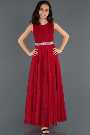 Long Red Girl Dress ABU1228