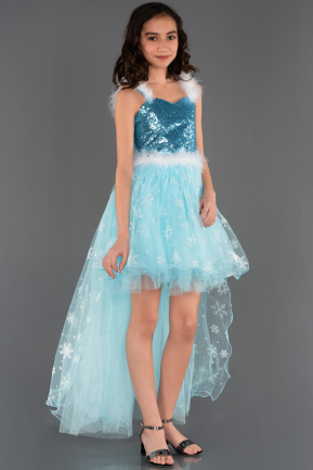 Blue Girl Dress OK526