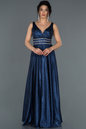 Long Navy Blue Engagement Dress ABU1415