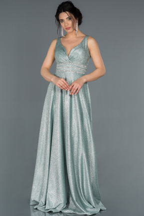 Long Mint Engagement Dress ABU1415