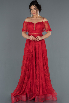 Long Red Engagement Dress ABU1283