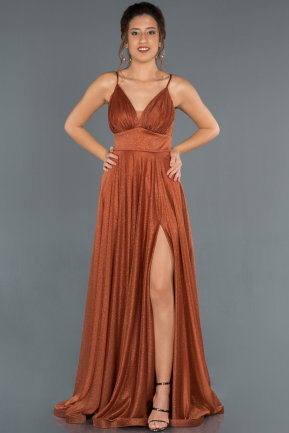 Long Light Brown Prom Gown ABU1303
