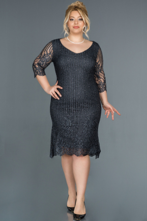 Short Indigo Plus Size Evening Dress ABK813