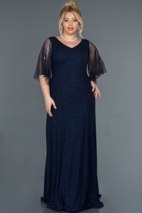 Long Navy Blue Oversized Evening Dress ABU1319