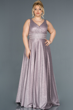 Long Lavender Plus Size Evening Dress ABU1309