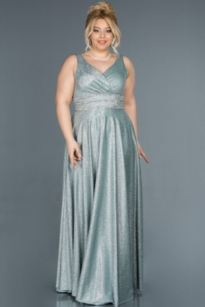 Long Mint Plus Size Evening Dress ABU1309