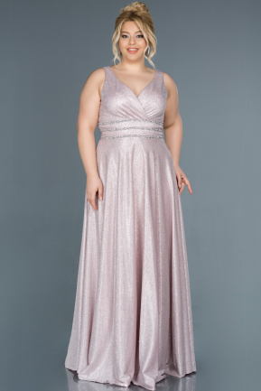 Long Powder Color Plus Size Evening Dress ABU1309