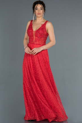 Long Red Engagement Dress ABU1325